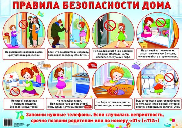 Рисунки с правилами безопасности